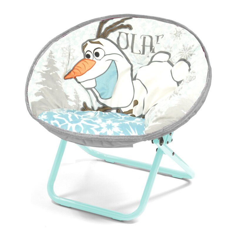 Idea Nuova Character Toddler Kids Saucer Chair In Olaf Wayfair
