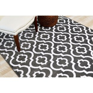 Milne Power Loom Charcoal Outdoor Area Rug