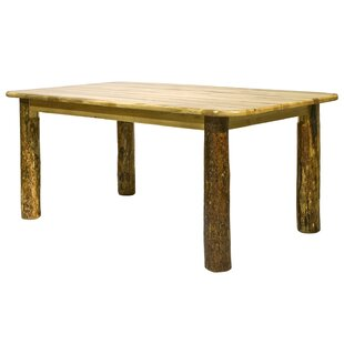 Tustin 4 Post Solid Wood Dining Table by Loon Peak No Copoun