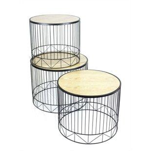 Lindberg Metal 3 Piece Nesting Tables