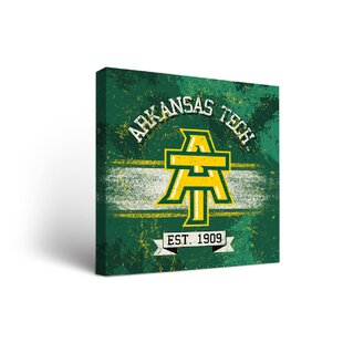 NCAA Arkansas Tech University ATU Wonder Boys Golden Suns Banner Framed Graphic Art on Wrapped Canvas By Victory Tailgate