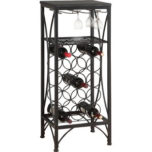 Vickie 15 Bottle Floor Wine Rack by La..