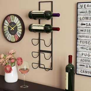 Leveson 5 Bottle Wall Mounted Wine Rack b..