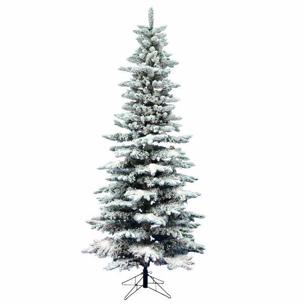 Artificial Christmas Tree Warehouse: Vickerman Flocked Utica 9' Green Fir Artificial Christmas