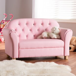 Hebden Kids Faux Leather Loveseat By Harriet Bee