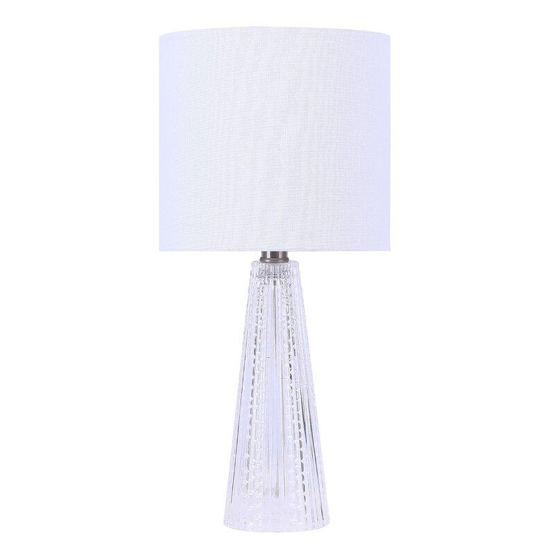 Rosdorf Park 16 Clear Glass Table Lamp Reviews Wayfair