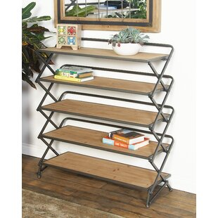 Cole & Grey Contemporary 5-Tiered and Long Accordion Shelf