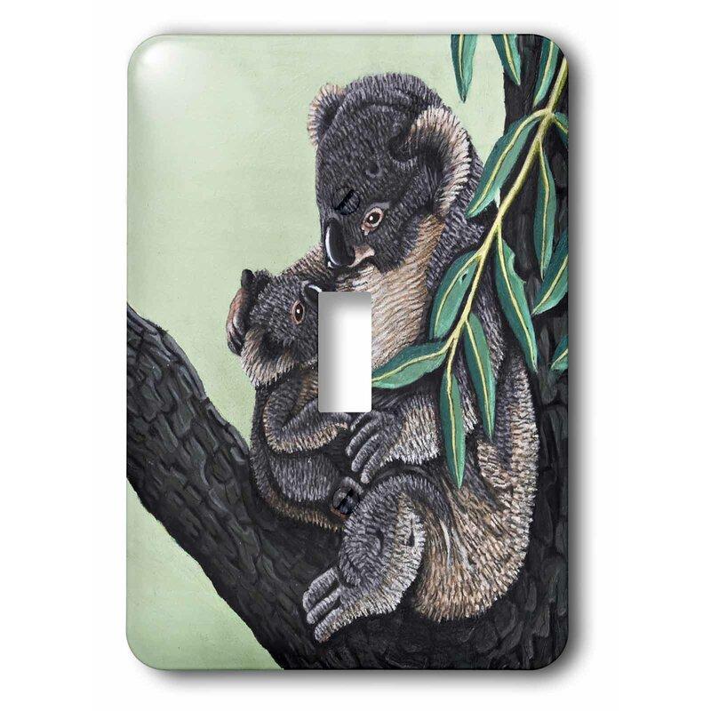 3drose Koala Mother 1 Gang Toggle Light Switch Wall Plate Wayfair