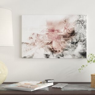 \'Rose Gray Abstract Watercolor\' by Katrina Jones - Wrapped Canvas Graphic  Art Print