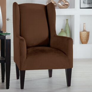 Serta® Stretch Fit Box Cushion Wingback Slipcover
