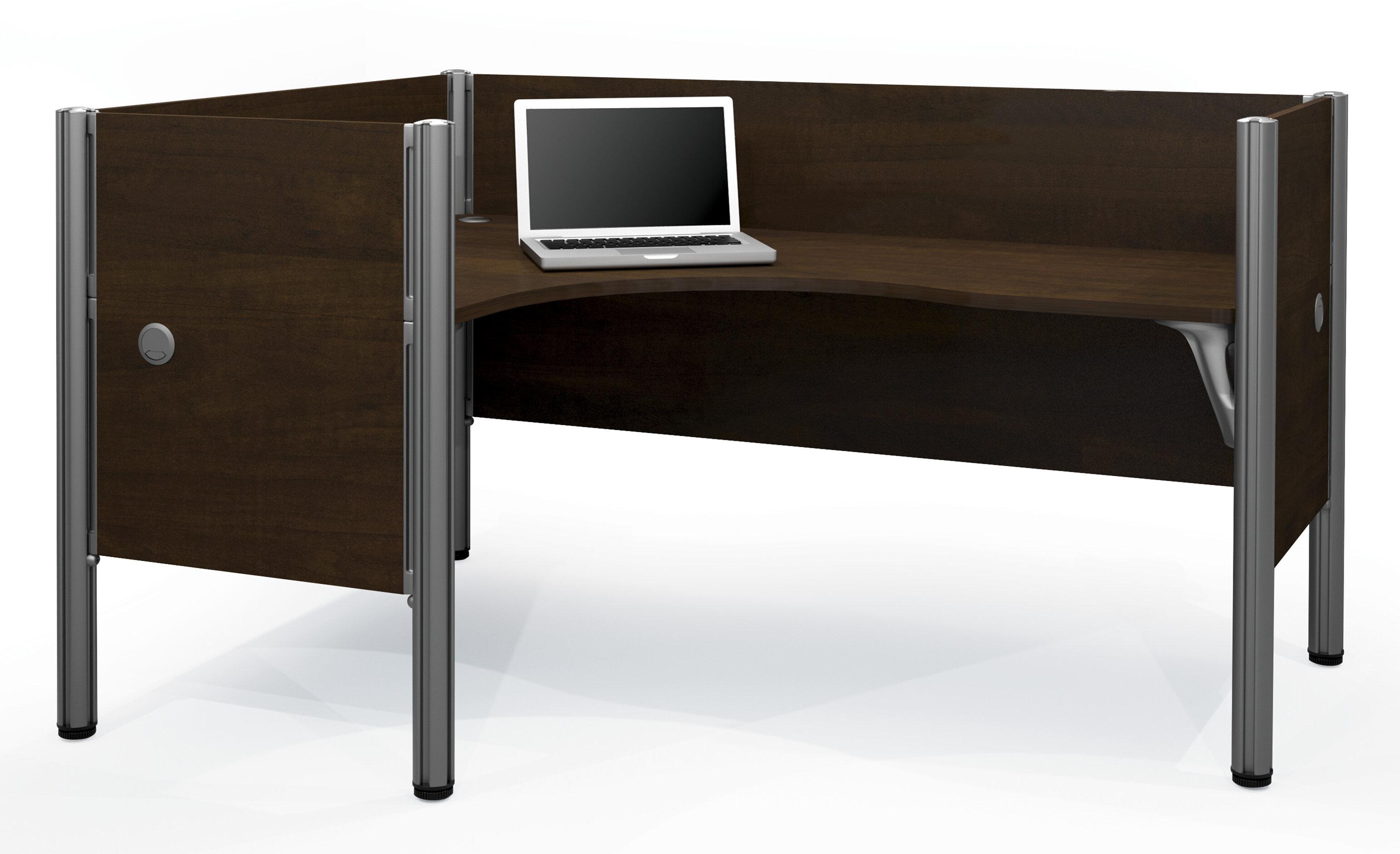 san francisco 3c8e0 20493 Pro-Biz Single Left L-Desk Workstation With 4 Melamine Privacy Panels