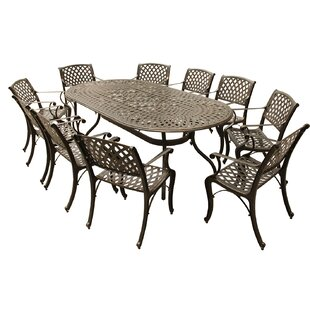 Casie Mesh Lattice 11 Piece Dining Set