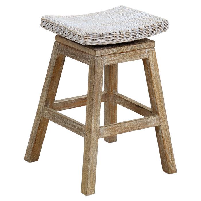 jeffan carmen teak counter bar stool wayfair