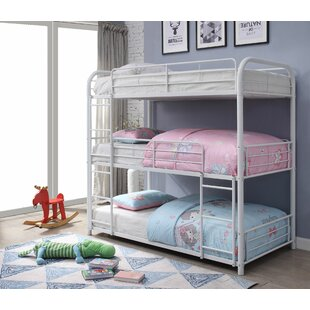 Jonina Twin Triple Bunk Bed by Harriet Bee Best Choices