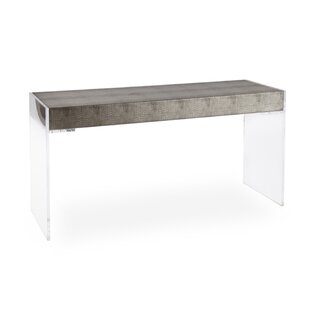 Square Feathers Reed Console Table
