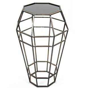 Twila Geometrically Cutout Metal End Table