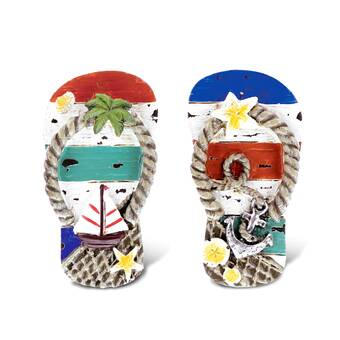 Breakwater Bay Mangino Puzzled Sandals Nautical Sign Magnets Wayfair