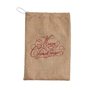 Merry Christmas Linen Bag (Set of 2)
