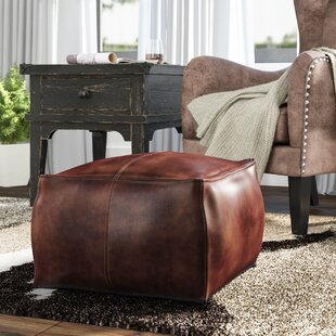 Price Check Brower Leather Pouf By Trule Teen