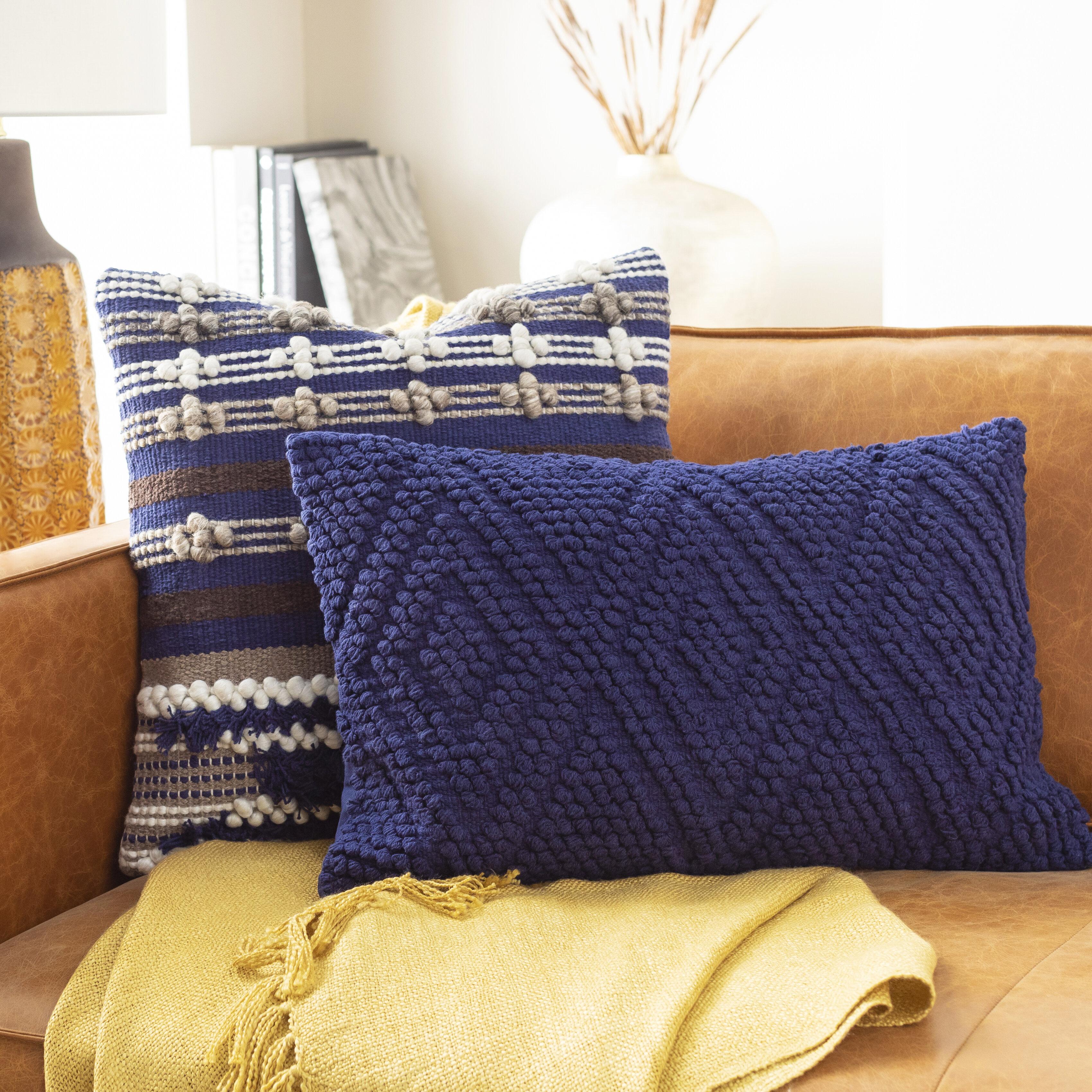 Bungalow Rose Statler Cotton Geometric Lumbar Pillow Reviews Wayfair