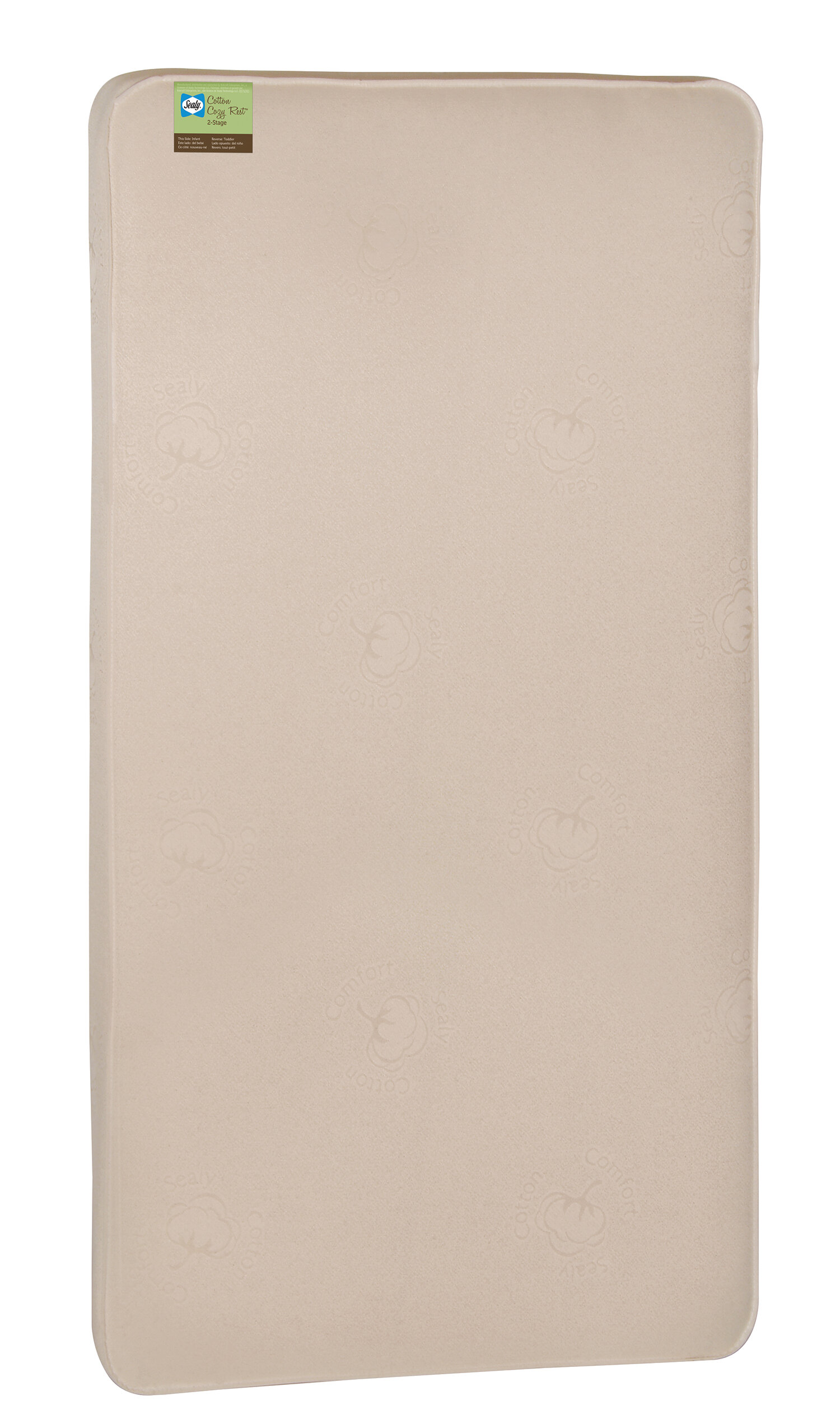 sealy cotton cozy rest 2 stage 5 5 crib mattress reviews wayfair