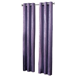 Jericho Solid Semi-Sheer Grommet Single Curtain Panel