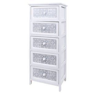 Aitken 5 Drawer Chest By World Menagerie