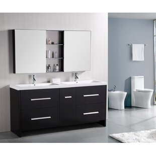 Royal 72 Double Bathroom Vanity Set with Mirror by Home Loft Concepts