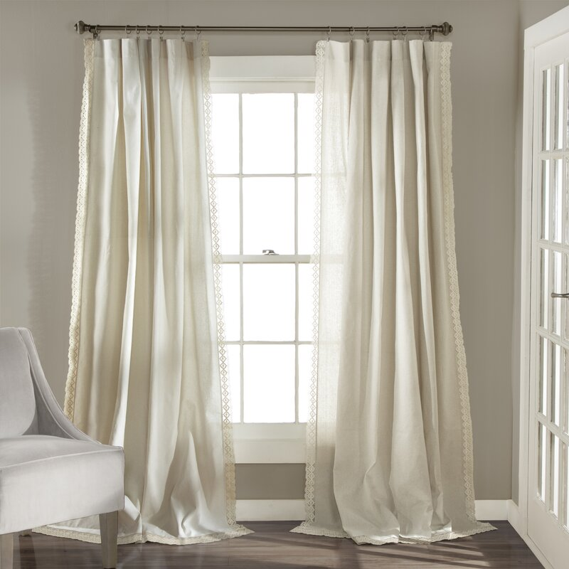 Arraignee Solid Semi Sheer Curtain Panels Reviews Birch Lane