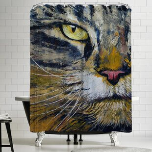 East Urban Home Michael Creese Norwegian Forest Cat Shower Curtain