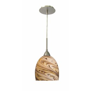 Woodbridge Lighting Art Glass 1-Light Con..