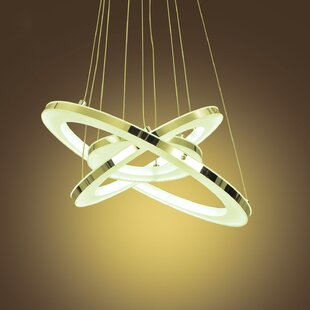 3-Light LED Geometric Chandelier by Unitary