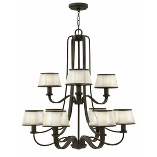 Prescott 9-Light Shaded Chandelier