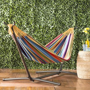 Dorinda Double Hammock With Stand by Beachcrest Home 2019 Sale