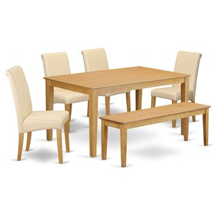 Kaila Kitchen Table 6 Piece Solid Wood Di..