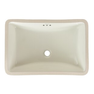Reviews Restyle Ceramic Rectangular Undermount Bathroom Sink with Overflow By Ronbow