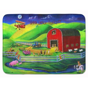 Corgi Barn Dance Memory Foam Bath Rug