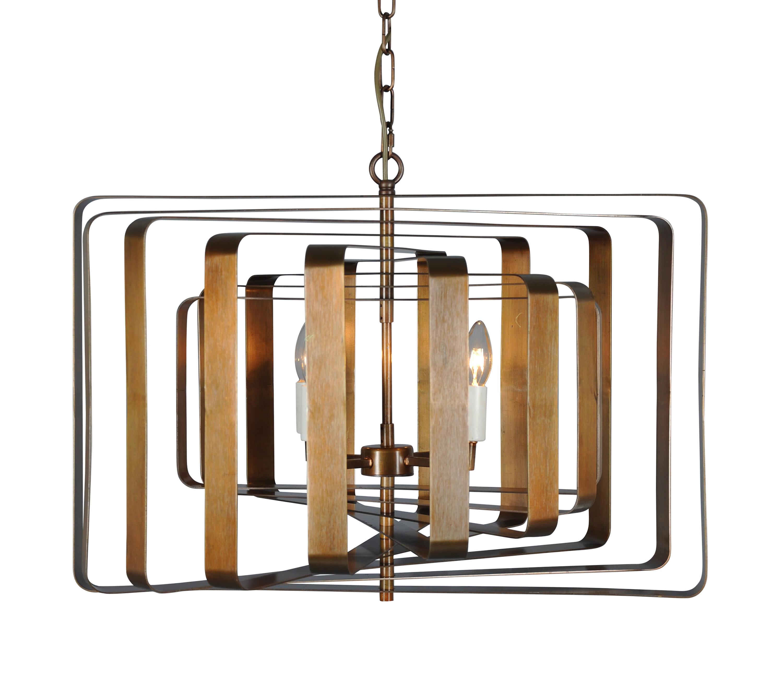 Corrigan Studio Ella 4 Light Unique Statement Geometric Chandelier Wayfair
