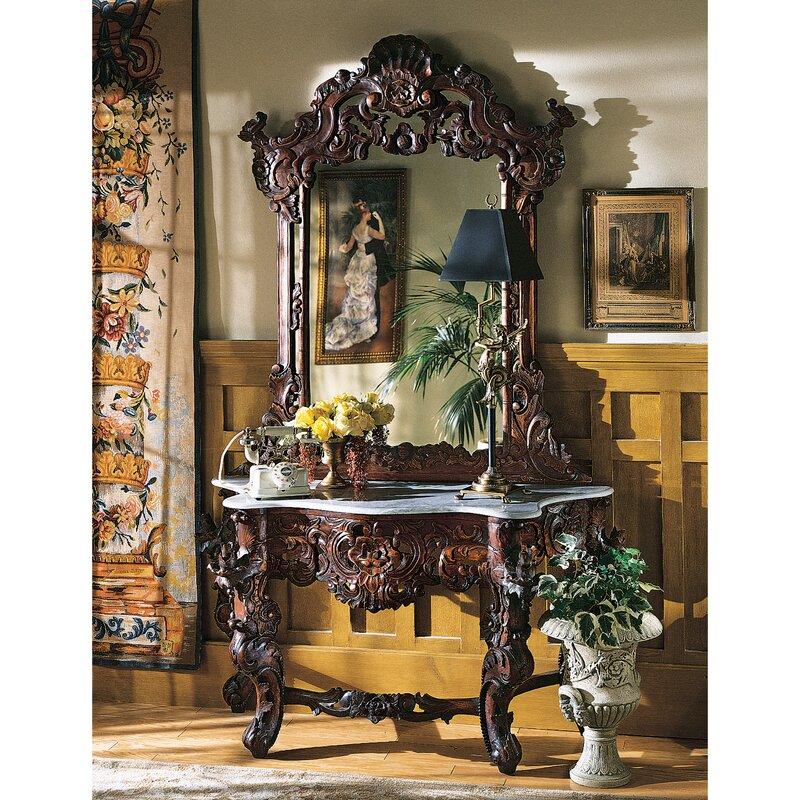 Hapsburg Console Table and Mirror Set Design