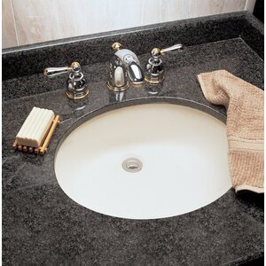 Ovalyn Large Oval Undermount Bathroom Sink with Overflow