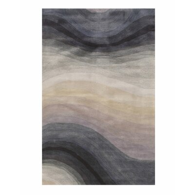 Sinderen Contemporary Abstract Hand Tufted Wool Blue Area Rug Latitude Run Rug Size Rectangle 5 X 8