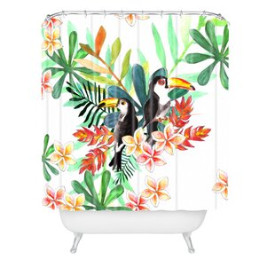 Sophia Buddenhagen 2 Toucans Single Shower Curtain