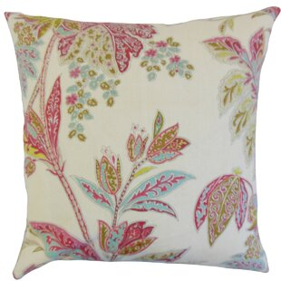 Taja Floral Linen Throw Pillow Cover