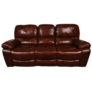 Carraton Modern Leather Reclining Sofa by Three Posts