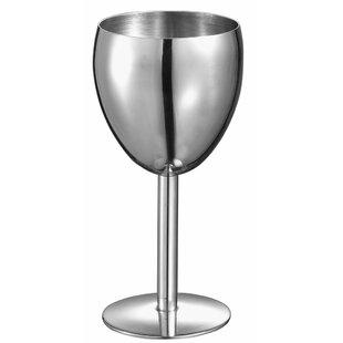 Antoinette 6 oz. Stainless Steel Stemmed Wine Glass