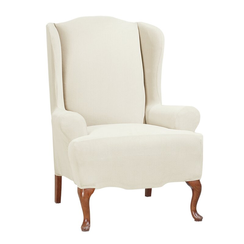 stretch morgan tcushion wingback slipcover