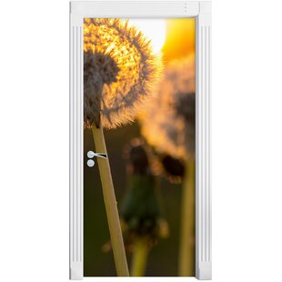 Dandelion Head Door Sticker By East Urban Home