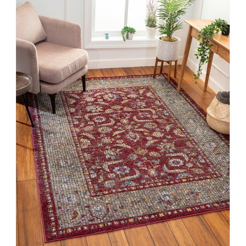 Well Woven Allure Vanessa Persian Mosaic Red Rug Wayfair