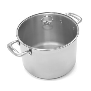 Induction 21 Steelu2122 8-Qt. Stock Pot with Lid