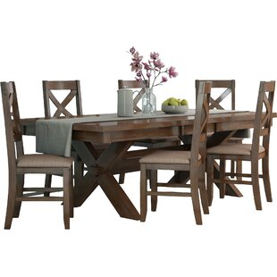 Isabell 7 Piece Solid Wood Dining Set